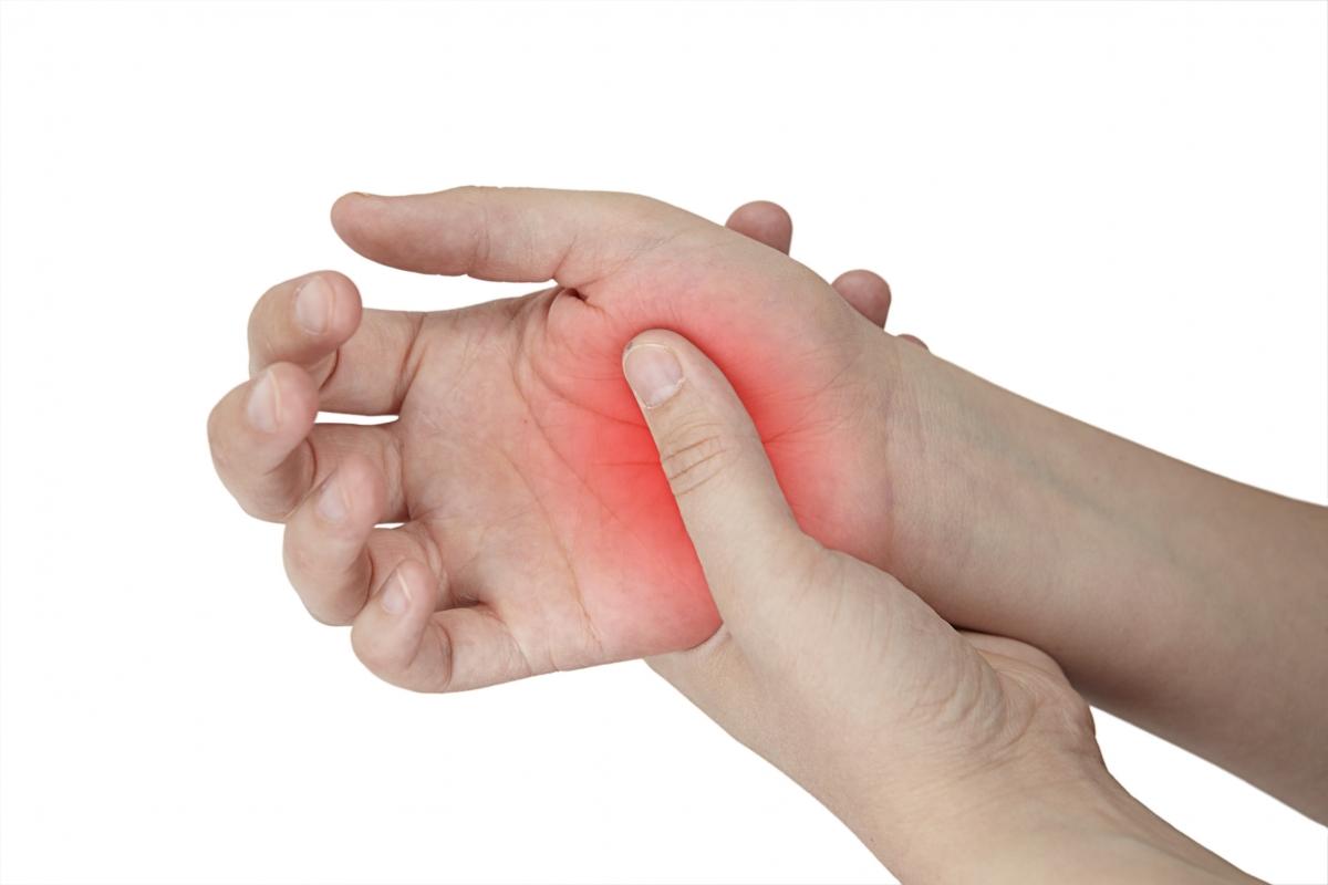 воспадение сустава большого пальца руки