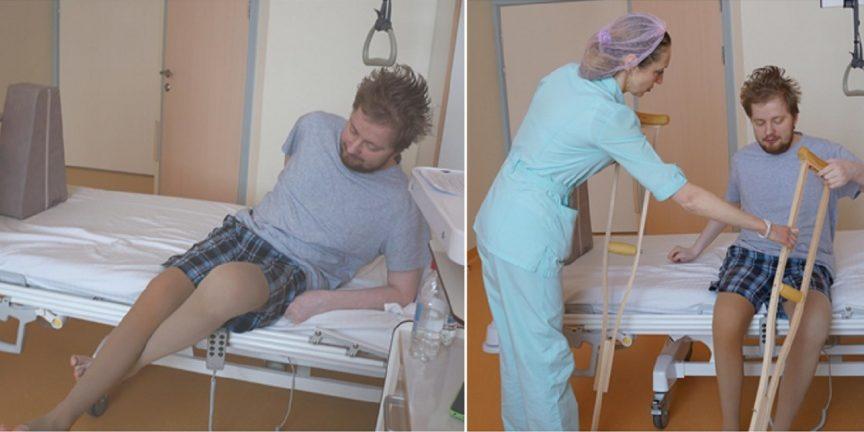 Сколько ходить на костылях после эндопротезирования тазобедренного сустава сустав робота